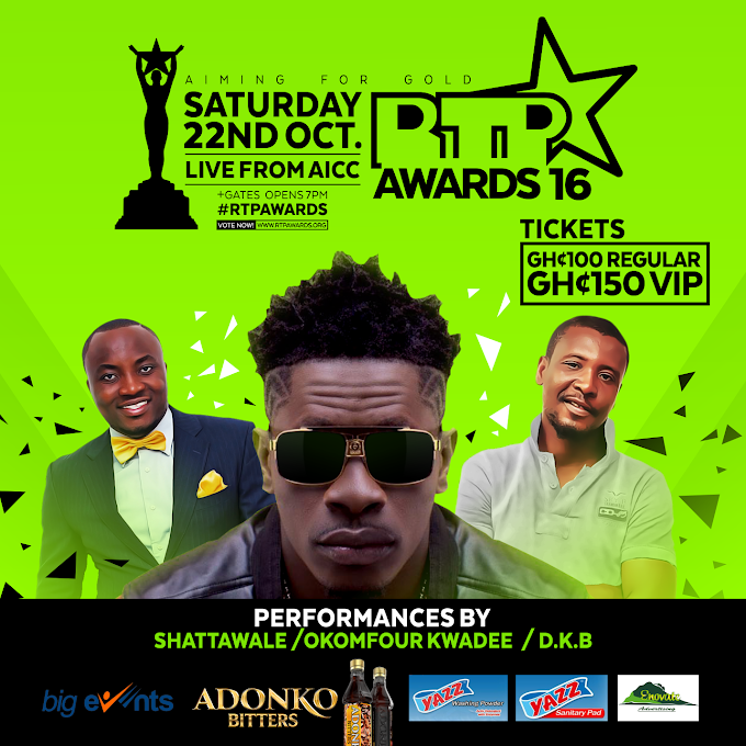 Shatta Wale And Okomfuor Kwaadee To Perform At The 2016 RTP AWARDS