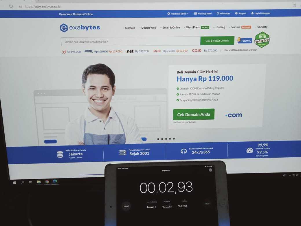 Pengujian Kecepatan Website Menggunakan Web Browser Microsoft Edge