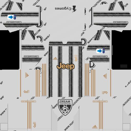 Juventus Kits 2020-2021 Adidas For Dream League Soccer 2019 (Home)