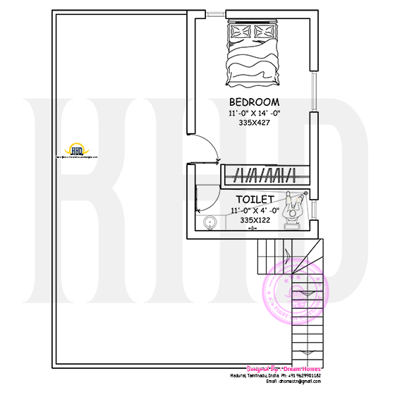 First floor blue print