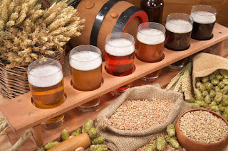 Different beer ingredients and beer styles