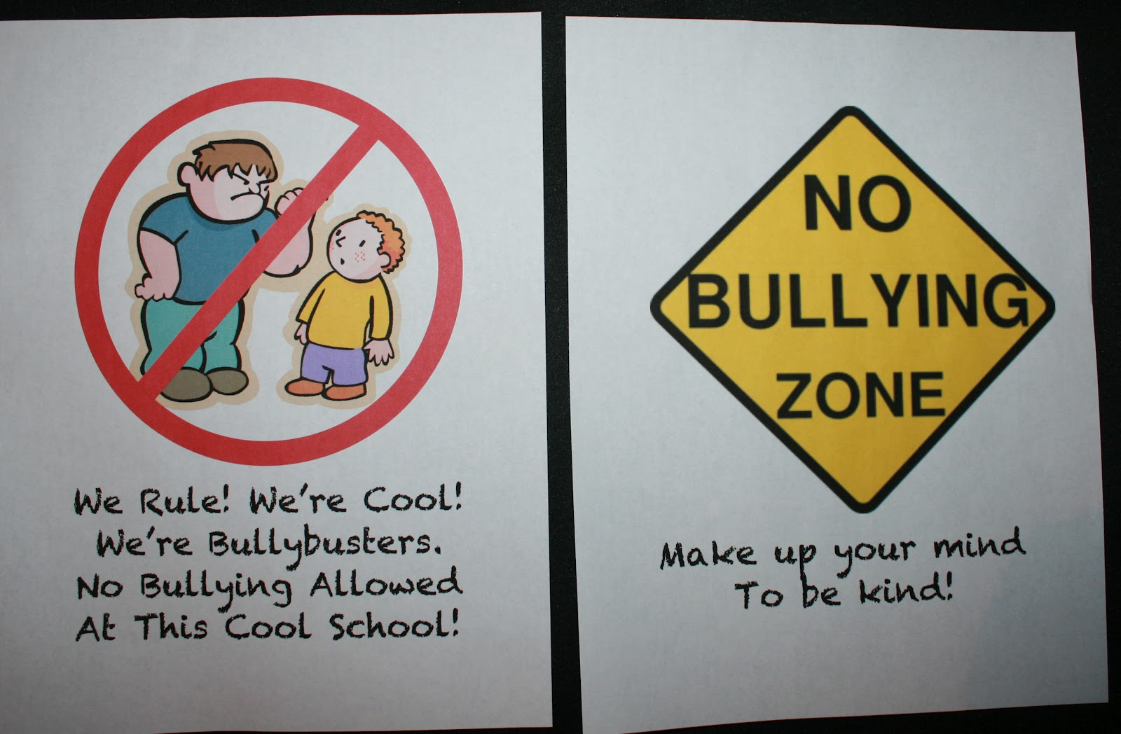 No Bullying Poster Anchor Charts