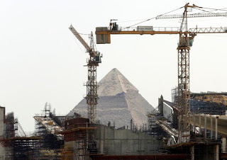 The site of the Grand Egyptian Museum.