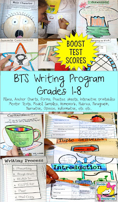 A writing program designed to boost test scores AND motivate students to write.  This mega bundle includes paragraph writing, narrative writing, opinion writing, and informative writing.  You will find anchor charts, tracking charts, student practice, interactive pages, assessments, mentor text and more!