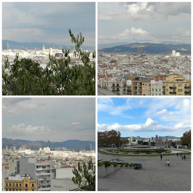 Barcelona vista do MNAC - Museu Nacional de Arte da Catalunha