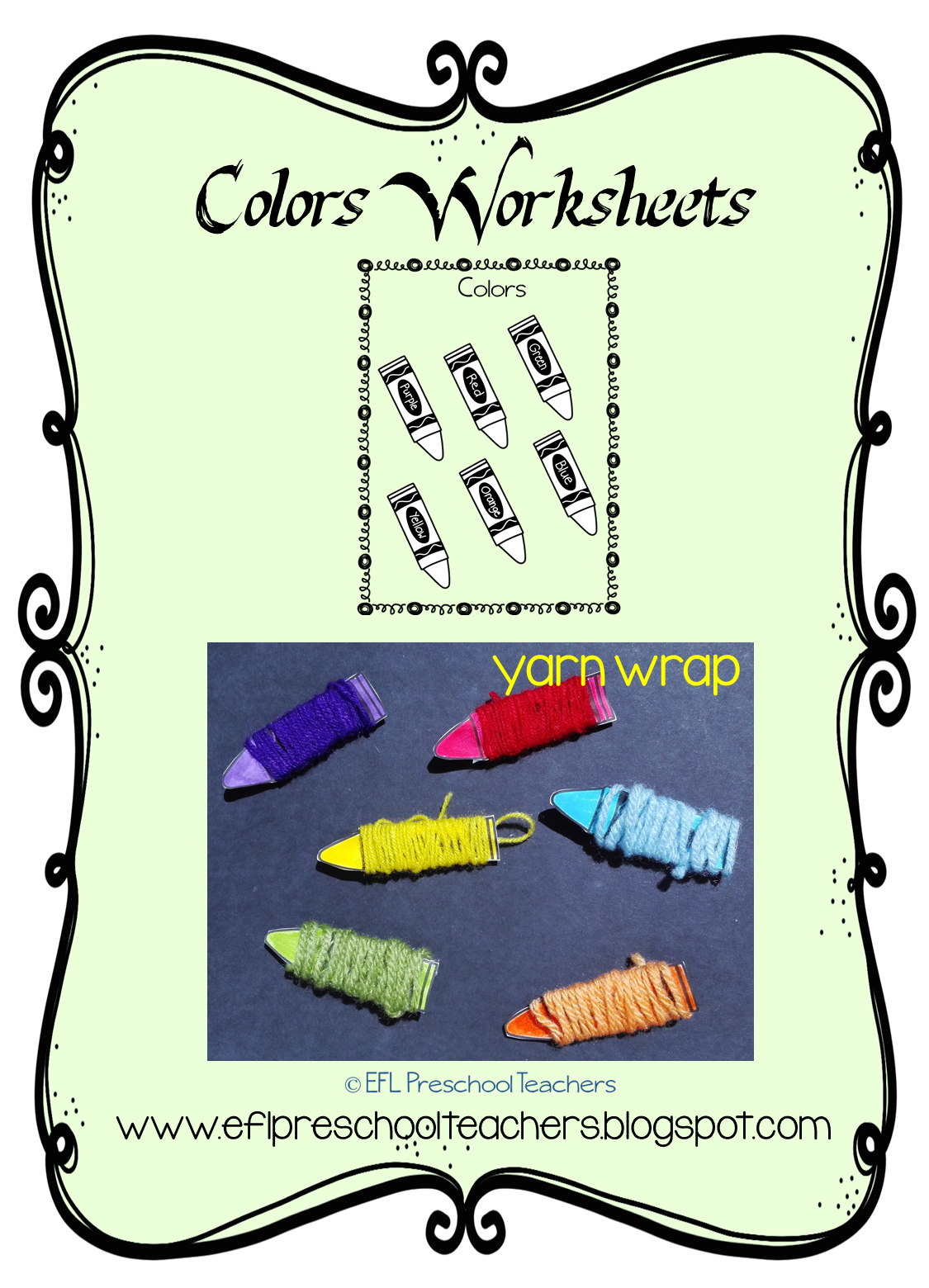 ESL/EFL Preschool Teachers: Color Worksheets