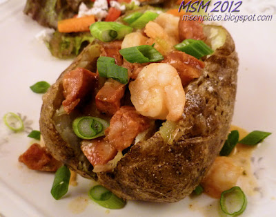 Shrimp & Andouille Baked Potatoes