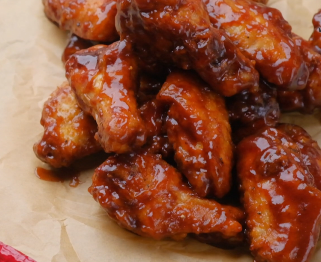 chicken wing with bbq sauce
