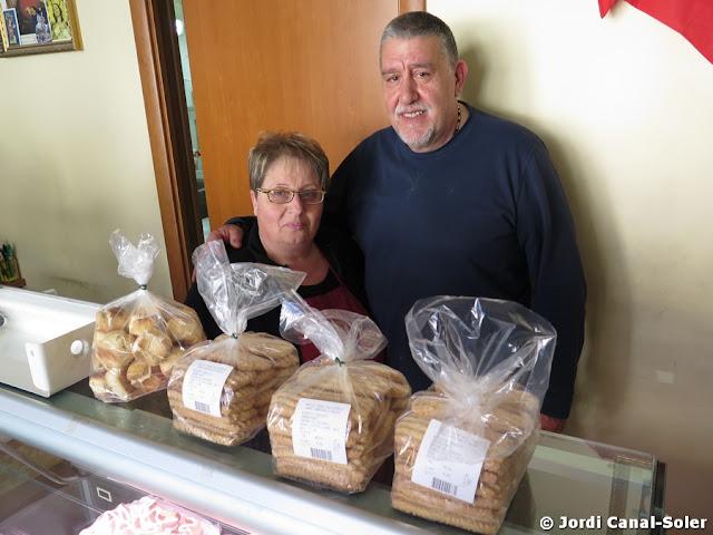 Carmelo Massari y su mujer en el Antico Forno San Giorgio