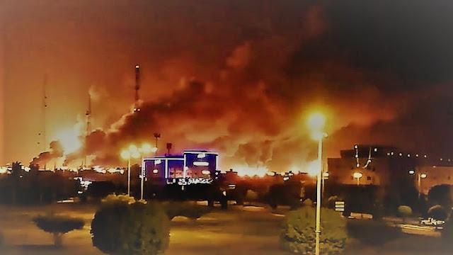 Kilang Minyak Terbesar Saudi Aramco Meledak Dihantam Drone Houtsi