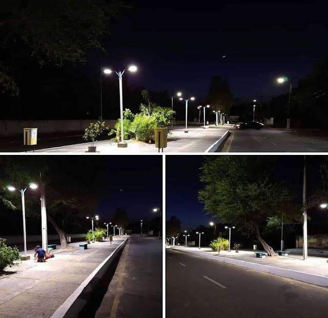 Prefeitura de Parnaíba amplia a instalação de iluminação de LED nas principais vias do Município.