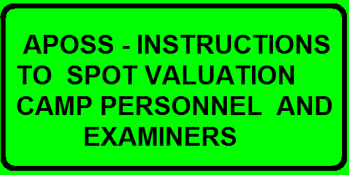 A.P. OPEN SCHOOL SOCIETY, ANDHRA PRADESH, HYDERABAD INTERMEDIATE (APOSS) PUBLIC EXAMINATIONS SPOT VALUATION CAMPS Intermediate (APOSS) Public Examinations, April, 2016 are conducted by the A.P. Open School Society under the stewardship of District Educational Officers in the District concerned. The examinations are conducted with OMR Bar Code pattern and DRDC is also introduced. Various functionaries involved and the designated officers to hold the camp assignment are furnished hereunder: