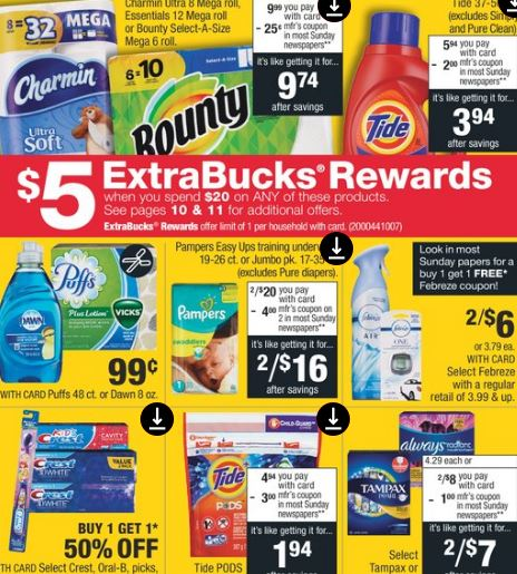 10 cvs ad P&G deals