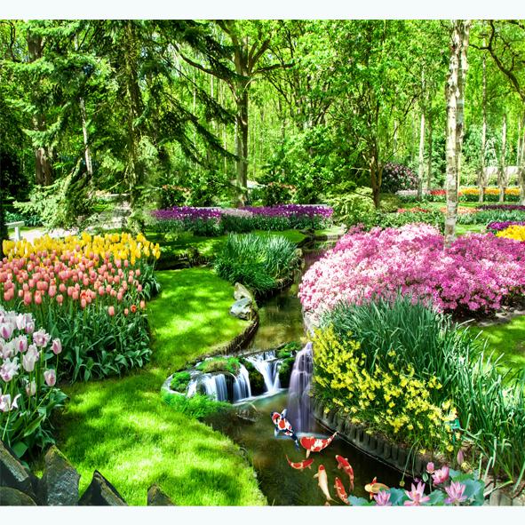 Tranh Vườn Hoa khe Suối.