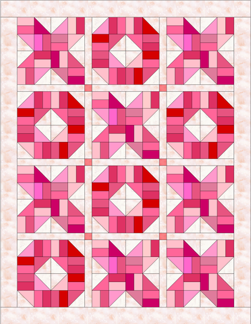 Hugs and Kisses - Free Quilt Pattern