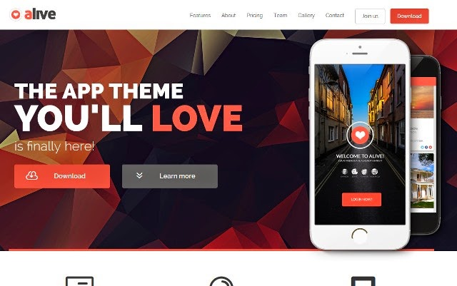 Alive - Responsive Bootstrap HTML5 App Landing Page Template
