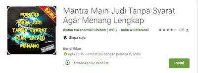 Aplikasi Mantra Main Judi Tanpa Syarat Agar Menang