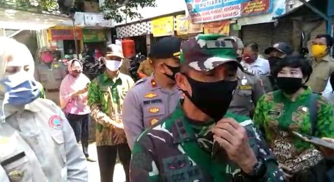 Menuju New Normal Dandim 0824  Apresiasi  Louncing Pasar Tangguh Oleh Bupati Jember.