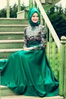 Kumpulan Model Long Dress Muslimah Modern Paling Mewah
