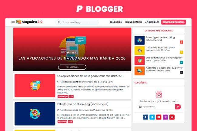 Plantilla Magazyne2.0 Blogger Gratis
