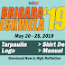 Brigada Eswela 2019 Schedule (Tarp, Shirt, Logo, Manual)