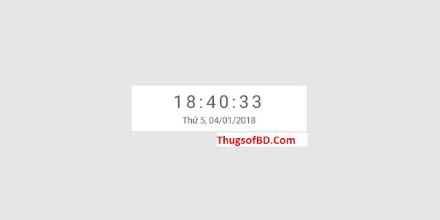 How to create Beautiful Clock and Date with js for Blogspot
