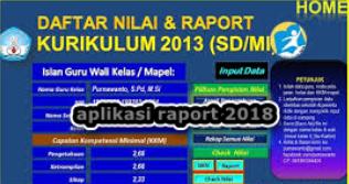 Aplikasi Raport SD Kurikulum 2013 Versi 2018 Lengkap Sesuai Juknis