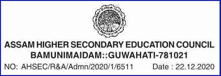 AHSEC Online Registration for 2020 -21 Session