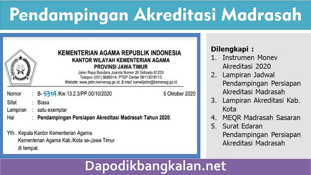 Surat Edaran Pendampingan Persiapan Akreditasi Madrasah Tahun 2020