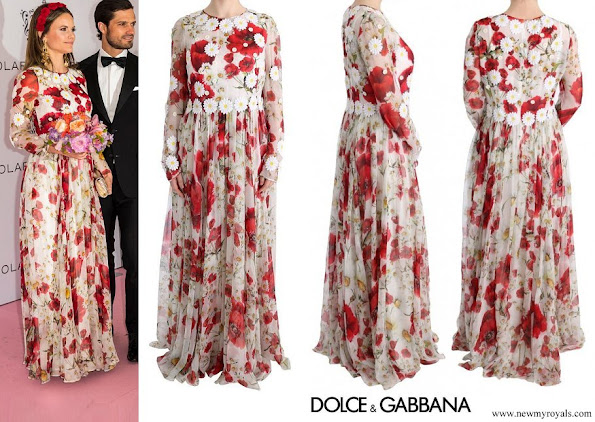 Princess Sofia wore Dolce & Gabbana Silk Floral Shift Long Maxi Dress