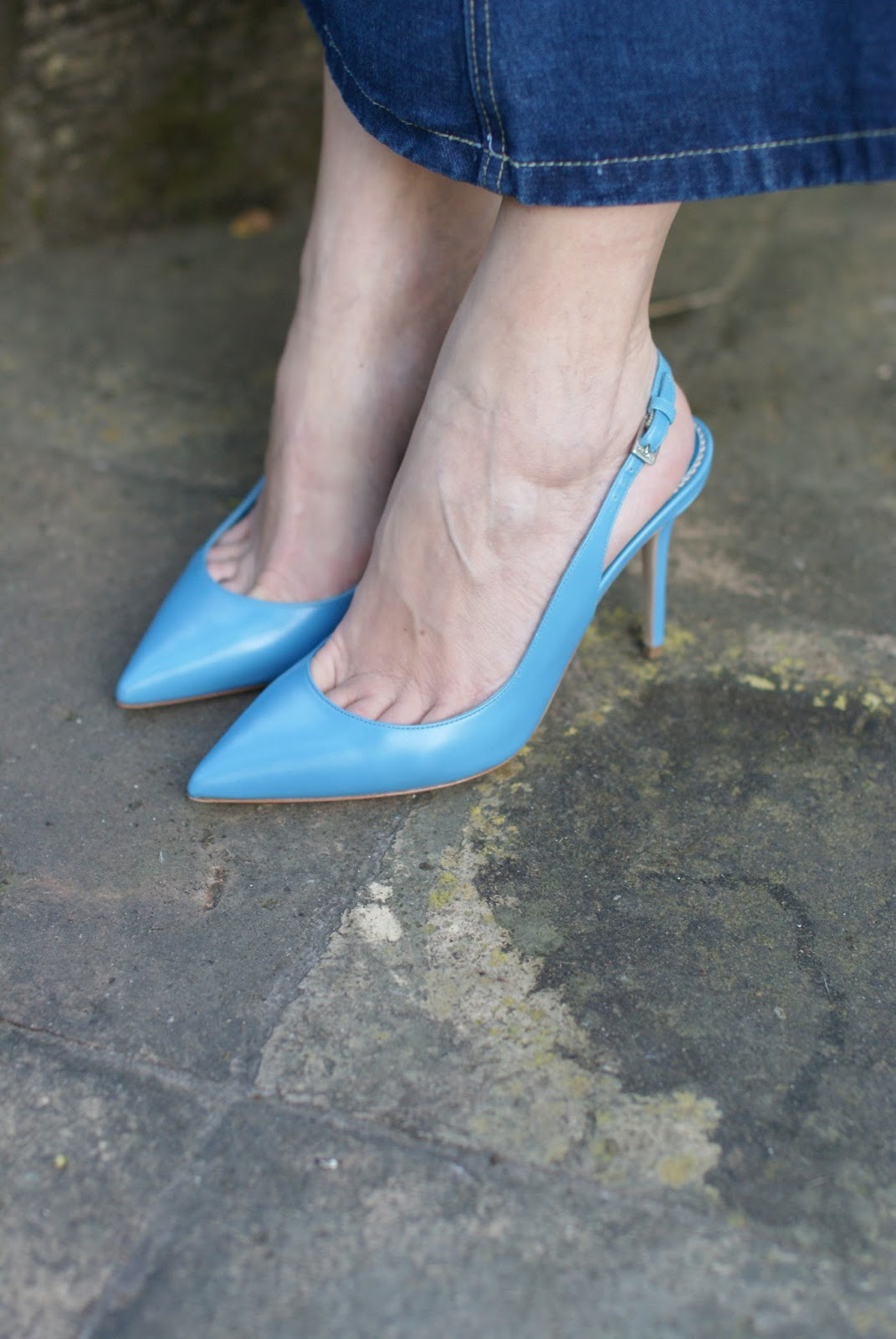 Scarpe Le Silla, serenity blue Le Silla slingback shoes on Fashion and Cookies fashion blog, fashion blogger style