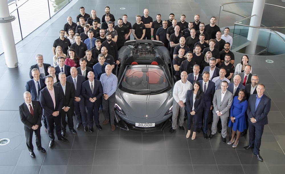 McLaren marks building its 20,000th car