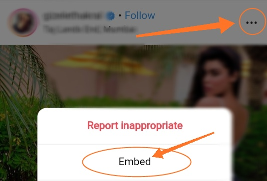 how to embed tweet instagram post blog or site in hindi