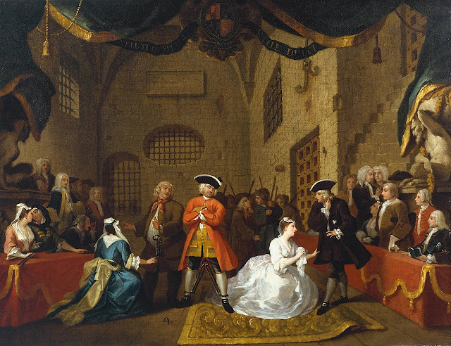 Painting based on scene 11, act 3 by William Hogarth, c. 1728, in the Tate Britain