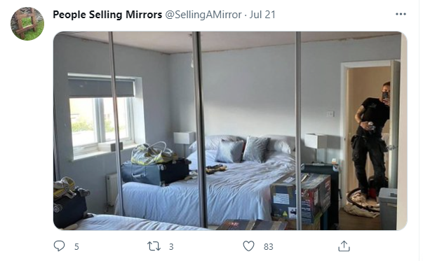 people trying to sell mirrors