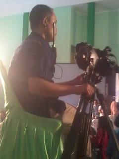Salah satu cameramen Metro TV