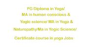 PG Diploma in Yoga/ MA Jobs