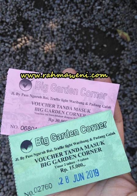 Tiket Masuk Big Garden Corner