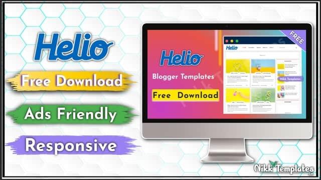 {Free} Helio Blogger Template Download - Nikk Templates