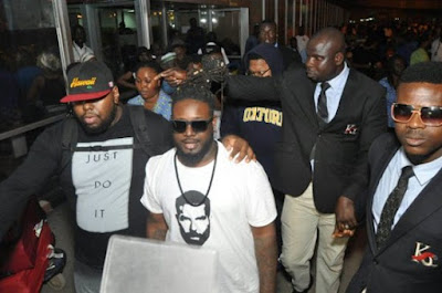 American Singer T-Pain Is Currently In Lagos To Host An Event | See His Arrival Photos