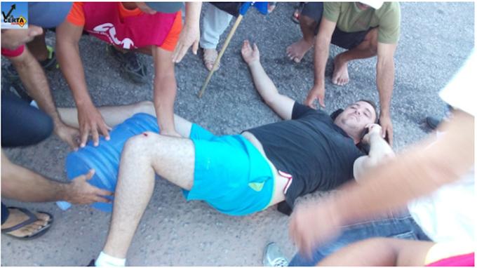 Natal/RN:Homem abre fogo contra manifestantes, na Br 101 e advogado é atingido na perna por disparo de arma de fogo