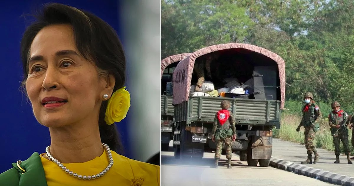 Myanmar Coup: Military Seizes Control Of The Country And Detains Nobel Prize Winner Aung Sang Suu Kyi
