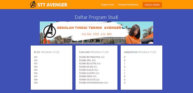 Aplikasi Penerimaan Mahasiswa Baru