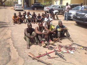 Photos: Police Arrests 15 Suspected Kidnappers In Kaduna, Including Those Involved In The Abduction Of Late Col. Inusa