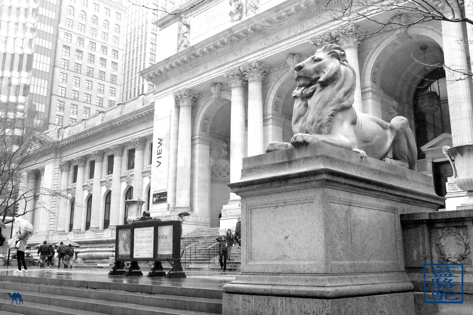 Le Chameau Bleu - Lion de NYPL