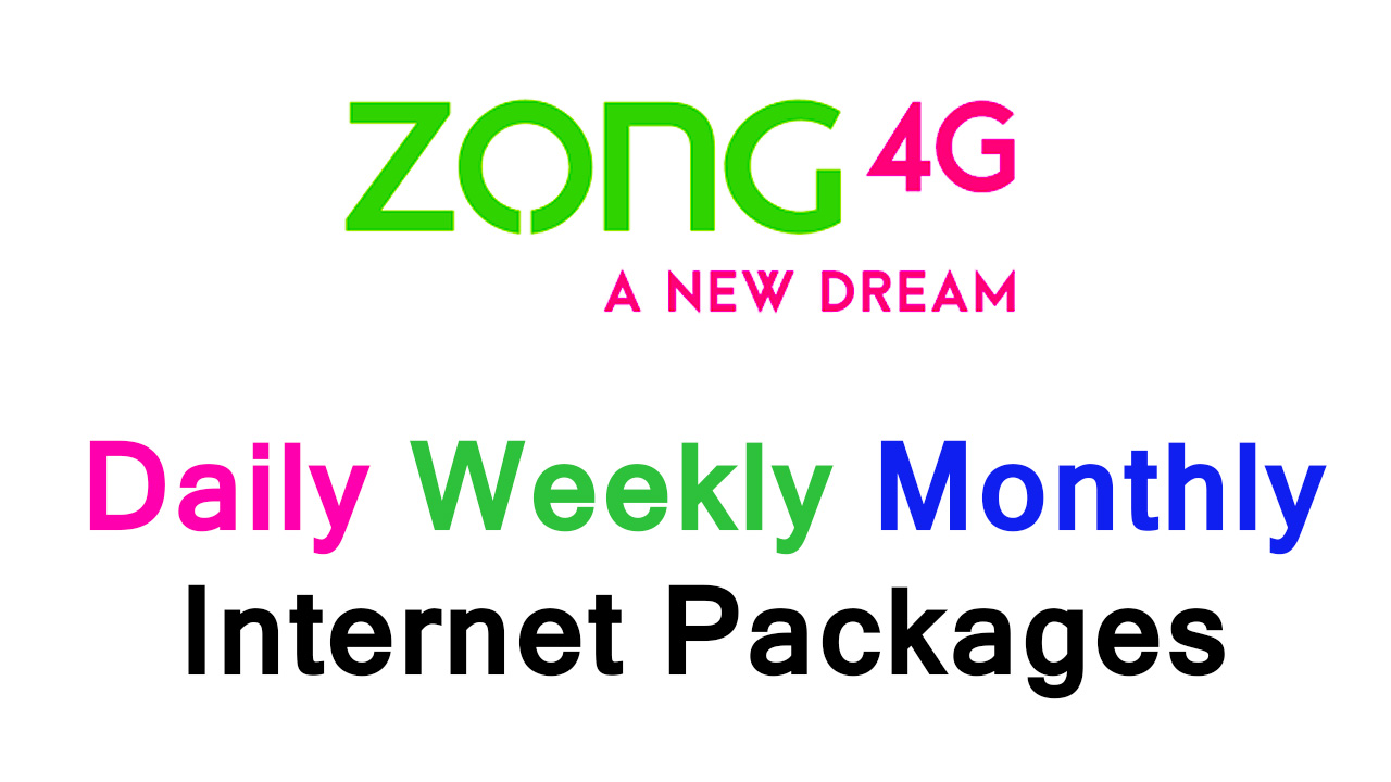 Zong Internet Packages 2020
