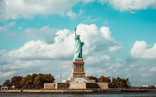Statue de la Liberté à New York - monument historique et haut de la page à New York.