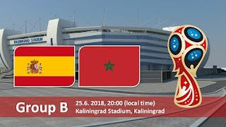 مشاهدة مباراة المغرب و إسبانيا في كأس العالم 2018 بتاريخ 25-06-2018 ماتش لايف