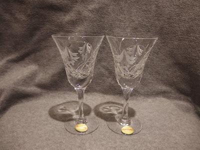 ロイヤルブライアリー フクシア 白ワイングラス ROYAL BRIERLEY